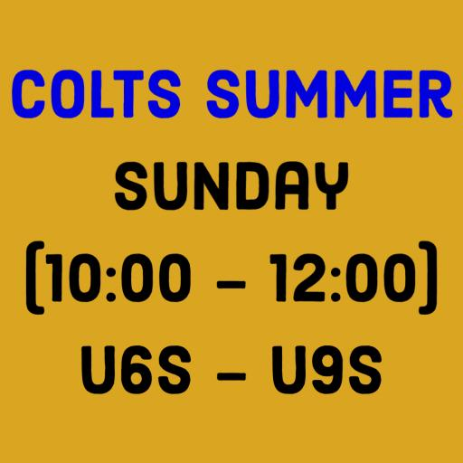 Colts Summer - Sunday (10:00 - 12:00) - U6s - U9s