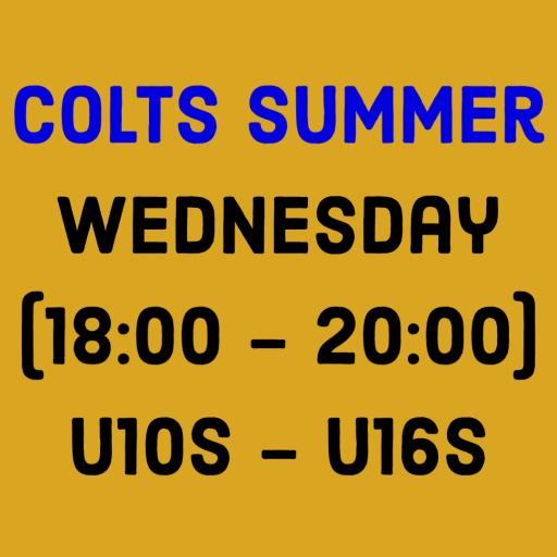 Colts Summer - Wednesday (18:00 - 20:00) - U10s - U16s